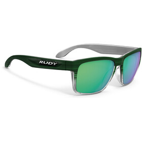 Rudy Project Spinhawk Glasses Green Streaked Matte/Polar 3FX HDR Multilaser Green